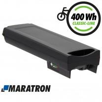 Maratron Ersatz-Akku für Bosch PowerPack Classic+ 400 Gepäckträger 36V 11,6Ah