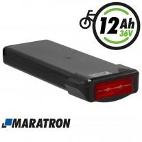 """Maratron E-Bike Akku 36V 11,6Ah (418Wh) Gepäckträger """"EV021"""" mit tiefem Einschub und integriertem Rücklicht"""