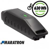 MARATRON® Ersatz-Akku für Yamaha Rahmenakku 630Wh 36V 17,5Ah für E-Bikes Pedelecs von Haibike, Winora, Batavus u.v.m.