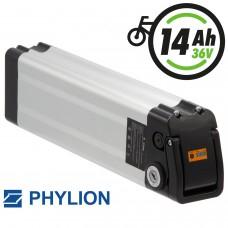 Phylion Akku XH370-10J 37V 14Ah SilverFish für E-Bike Pedelec MiFa, Rex, Prophete, Curtis, McKenzie, Rabeneick