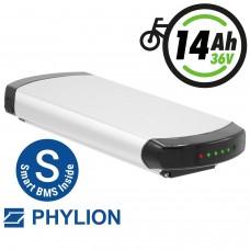 Phylion Akku XH370-10J 37V 14Ah Wall-E SMART für E-Bike Pedelec Aldi Prophete MiFa Trio Peugeot Kreidler u.v.m.