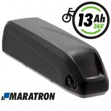 Maratron E-Bike Unterrohrakku 36V 13Ah Komplett-Set mit Halterung und Anschlusskabel