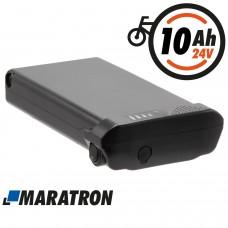 Maratron Ersatz-Akku für PROPHETE TRIO Gepäckträger kurz 24V 10,4Ah (Modell: 456)