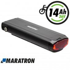 Maratron Ersatz-Akku 36V 14,5Ah für STELLA Gepäckträgerakku JCEB360 - inkl. Ladegerät