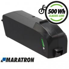 Maratron Ersatz-Akku für Bosch PowerPack Classic+ 500 Rahmenakku 14Ah (504Wh) für E-Bike Pedelec Fahrrad (R500)